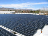 Solar panels at FIRST RF corporate headquarters in Boulder, CO